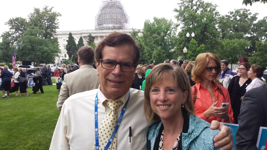"Joe Lucca and Stacie Larkin at ""Rally on the Hill"""